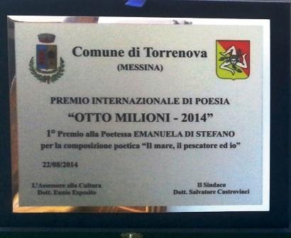 Targa Torrenova Otto milioni 1 posto Emanuela Di Stefano