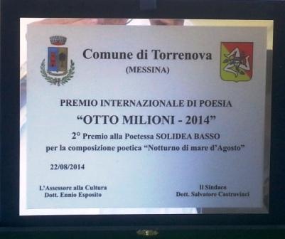 TargaTorrenova Otto milioni  2 posto Solidea Basso