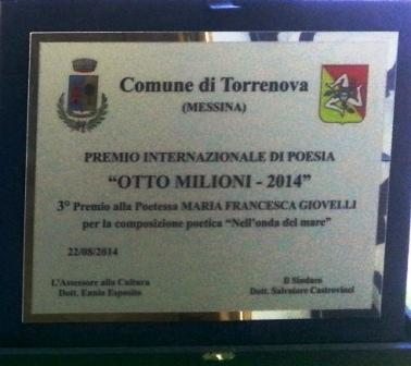 TargaTorrenova Otto milioni  3 posto Maria Francesca Giovelli (1)