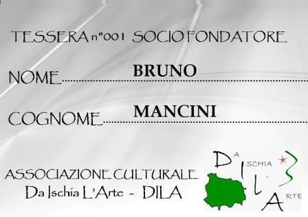 Tessera Fondatore 001 Bruno Mancini