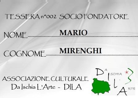 Tessera Fondatore 002 Mario Mirenghi