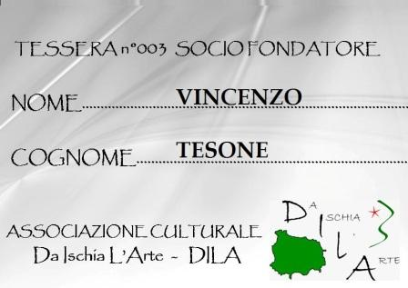 Tessera Fondatore 003 Vincenzo Tesone