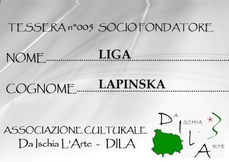 Tessera Fondatore 005 Liga Lapinska