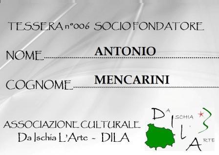 Tessera Fondatore 006 Antonio Mencarini