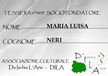 Tessera Fondatore 009 Maria Luisa Neri