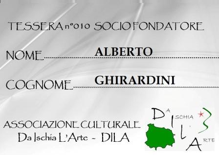 Tessera Fondatore 010 Alberto Ghirardini
