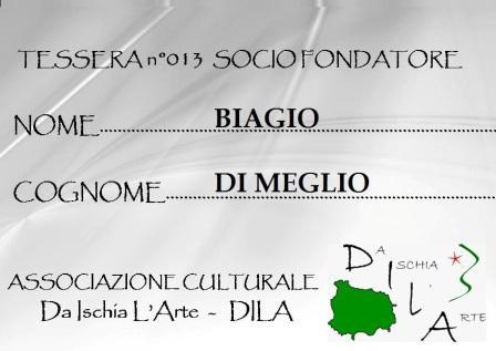 Tessera Fondatore 013 Biagio Di Meglio