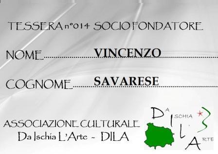 Tessera Fondatore 014 Vincenzo Savarese