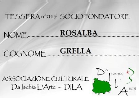 Tessera Fondatore 015 Rosalba Grella