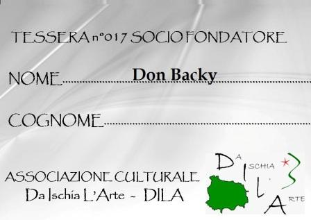 Tessera Fondatore 017 Don Backy