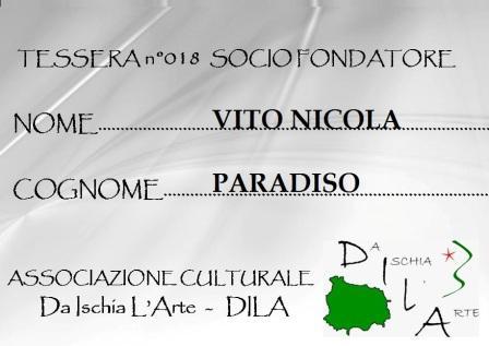 Tessera Fondatore 018 Vito Nicola Paradiso