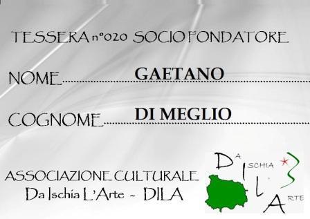 Tessera Fondatore 020 Gaetano Di Meglio