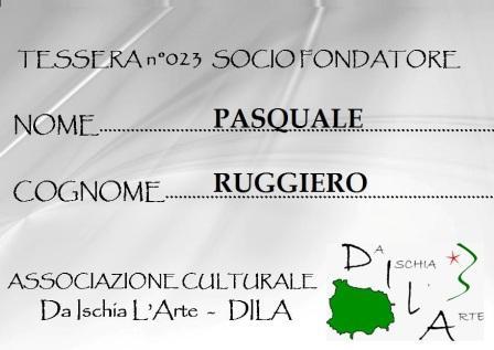 Tessera Fondatore 023 Pasquale Ruggiero