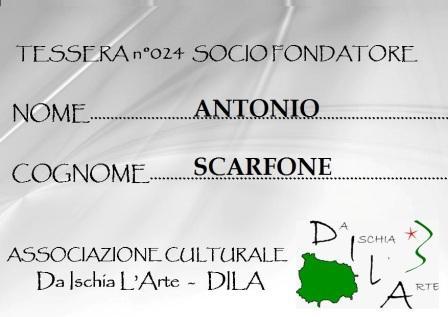 Tessera Fondatore 024 Antonio Scarfone