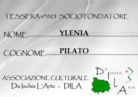 Tessera Fondatore 025 Ylenia Pilato