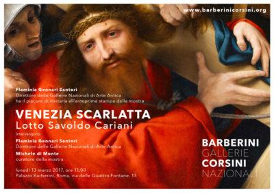 VENEZIA SCARLATTA mostra a Palazzo Barberini Roma