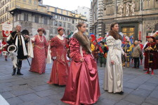 PRESSPHOTO Firenze cavalcata dei Magi e corteo storico in centro: Marco Mori/New Press Photo