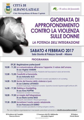 convegno del 4 febb 2017 ad Albano Laziale