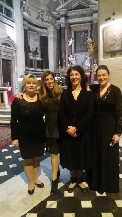 da sinistra Paola Occhi Silvana Lazzarino Alba Rodilosso Santina Amici