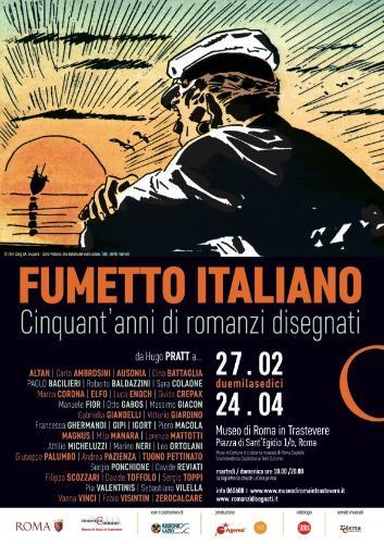 Fumetto italiano. Cinquant'anni di romanzi disegnati Dal 27 febbraio al 24 aprile 2016 il fumetto italiano sarà protagonista di una grande mostra