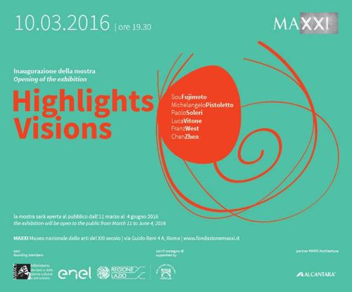 HIGHLIGHTS / VISIONS   La mostra attiva un dialogo tra opere selezionate di artisti e architetti italiani e internazionali presenti nella collezione del MAXXI