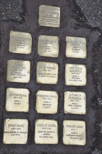 ricordare le vittime della Shoah con Memorie d'inciampo