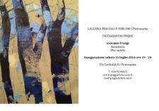 """Giovanni Frangi """"Ansedonia"""" galleria Poggiali e Forconi. Pietrasanta"""