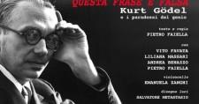 Kurt Godel nello spettacolo al teatro di Villa Torlonia Roma