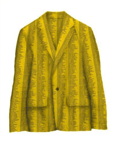 giacca gialla opera di Sislej Xhafa