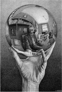 Escher- Mano con sfera riflettente