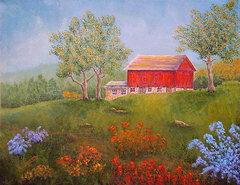 new-england-red-barn-summer-pamela-allegretto