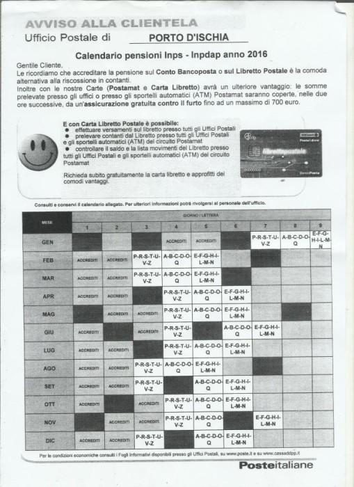 Calendario Pagamento Pensioni Inps.Calendario Pensioni Poste 2019 Ikbenalles