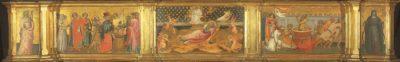 Trittico con S Giovanni Evangelista Giovanni dal Ponte