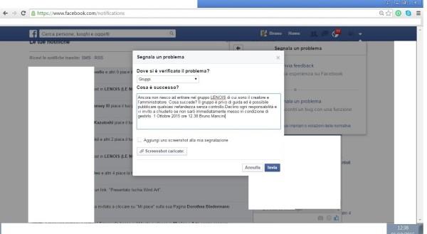 FB blocca accesso gestione