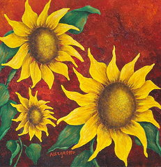 sunflowers-at-sunset-pamela-allegretto